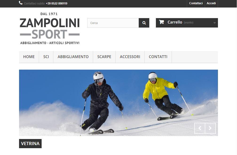 Zampolini Sport piattaforma e-commerce articoli sportivi