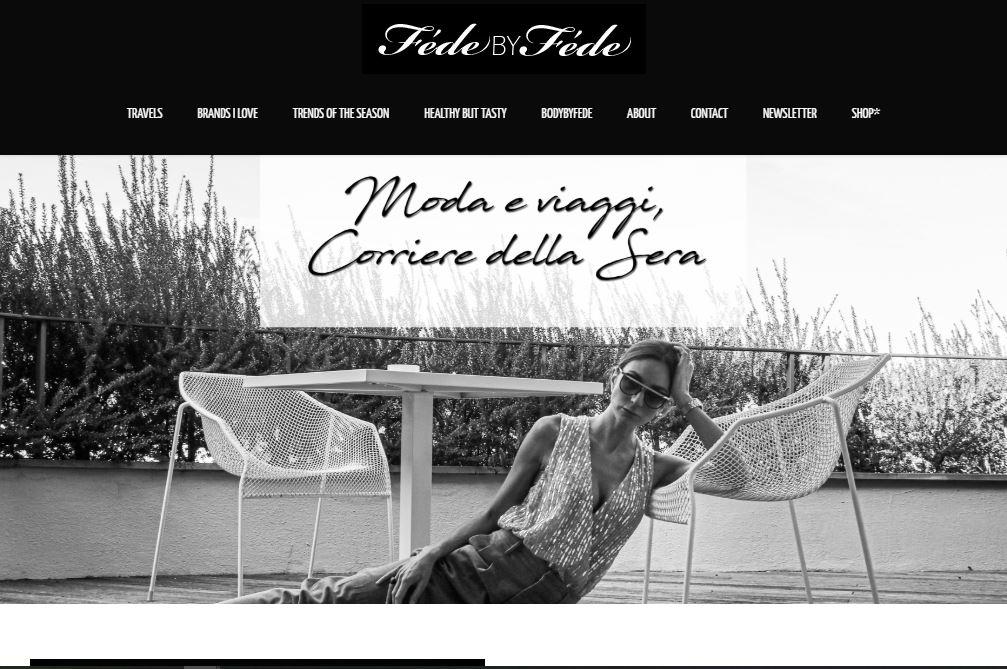 FedeByFede piattaforma sito fashion blogger