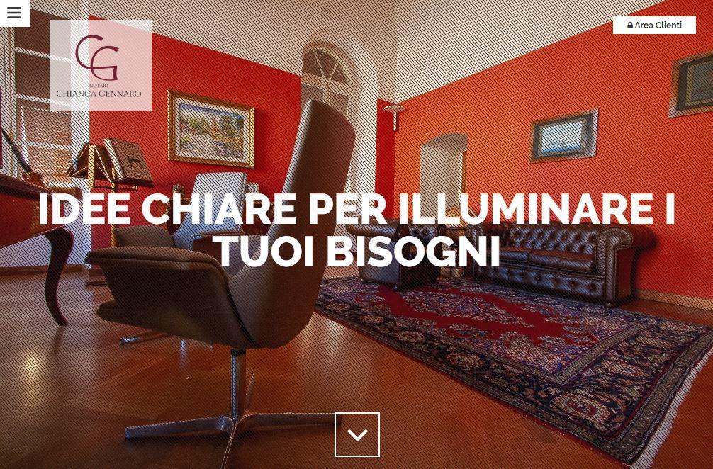 Sviluppo siti professionali Notaio Chianca